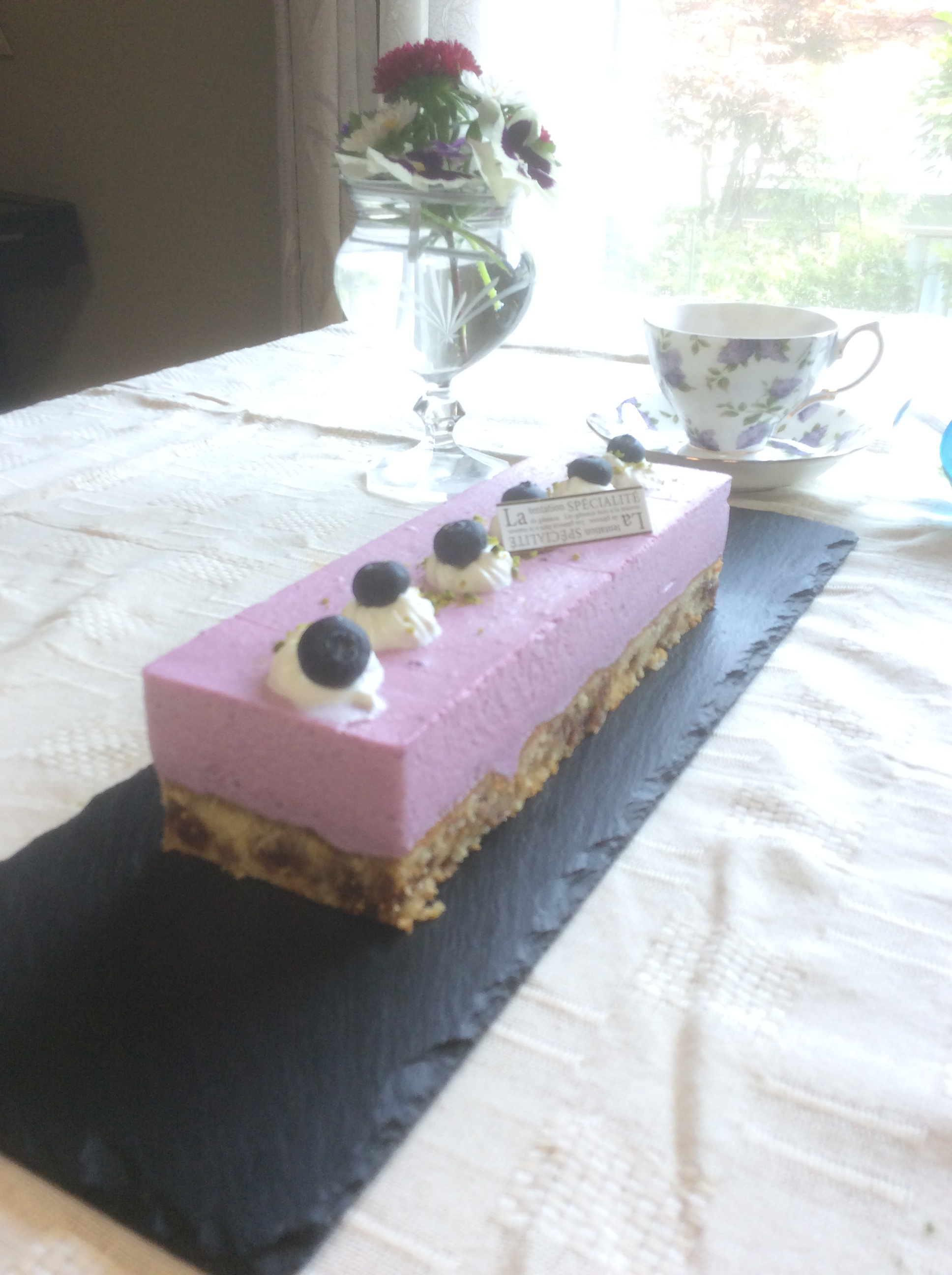 ブルーベリーチーズムースケーキ