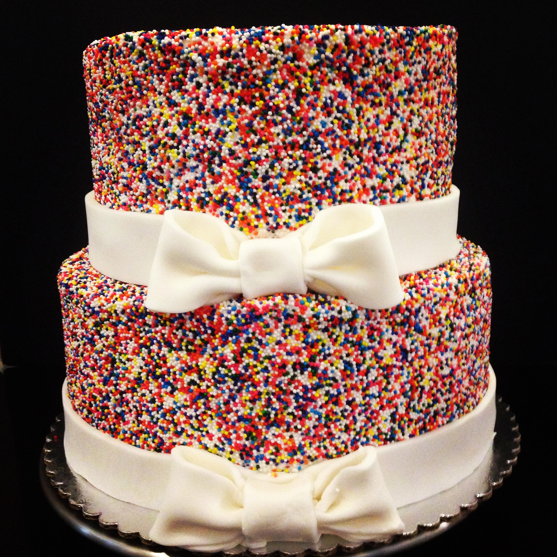 Stacked Sprinkle Cake