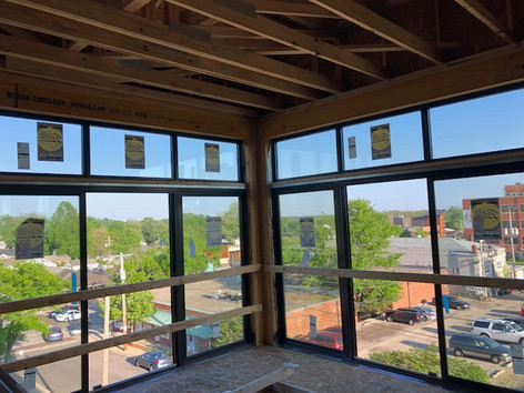 Expansive windows in corner units