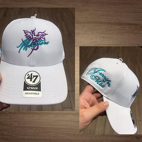"""Jennifer Mlott """"Mlotters"""" Hat (White)"""
