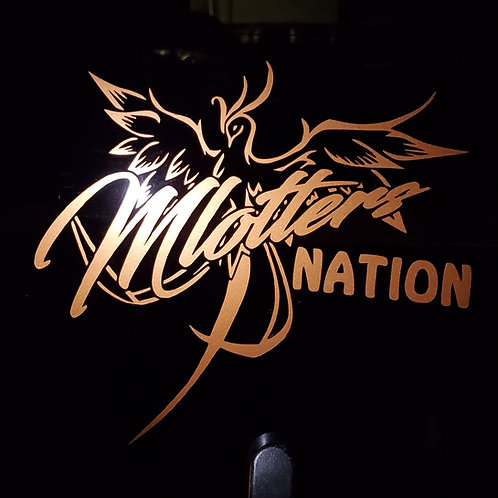 Mlotters Nation Phoenix Car Decal Large Size