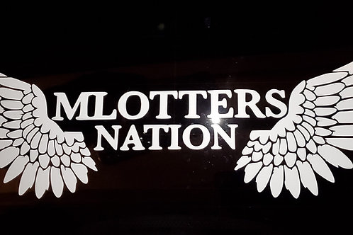 Mlotters Nation Wings Large Car Decal