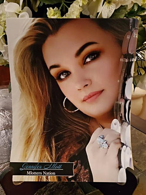 Jennifer Mlott - 8.5x11 Autographed Poster