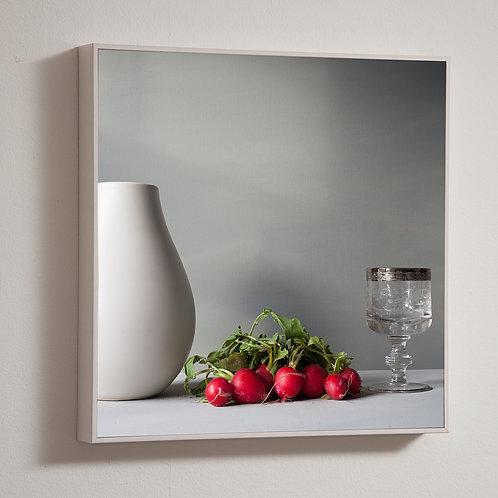 Radishes 30 x 30cm framed block