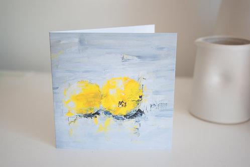 Lemons greetings card