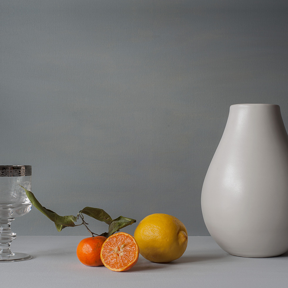 Tangerine, leaf and lemon
