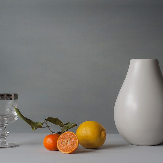Tangerine, leaf and lemon