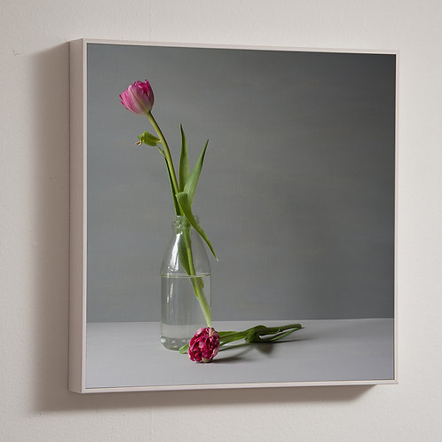 Pin Tulips, 30 x 30cm framed block