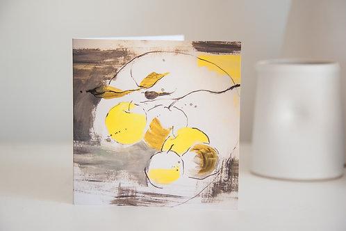 Fruit bowl greetings card