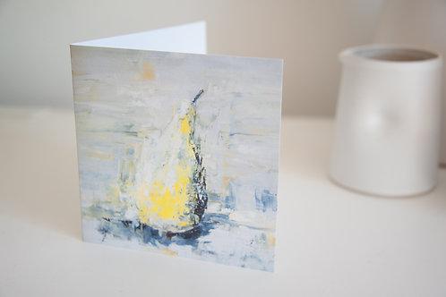 Pear greetings card