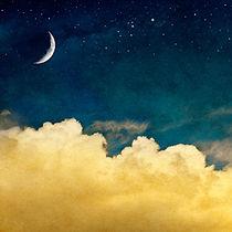 ciel nuit lune nuage vision