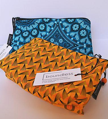 Shweshwe - Boundless, Material Zipper Bags