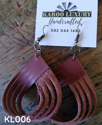 Karoo Luxury - Handmade Leather Earrings, Variety of styles