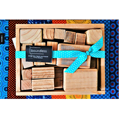 Toys - Boundless, Tray of Wooden Blocks