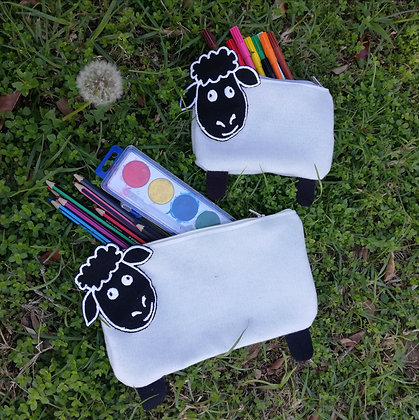 Sheep - Pottie, Felt zipper bags