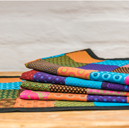 Shweshwe - Boundless, Material Table Runners