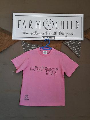 Kids - Farm Child, Be Ewe, Pink / Grey
