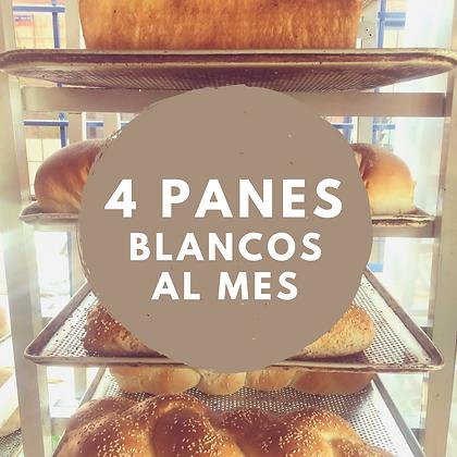 4 PANES BLANCOS AL MES