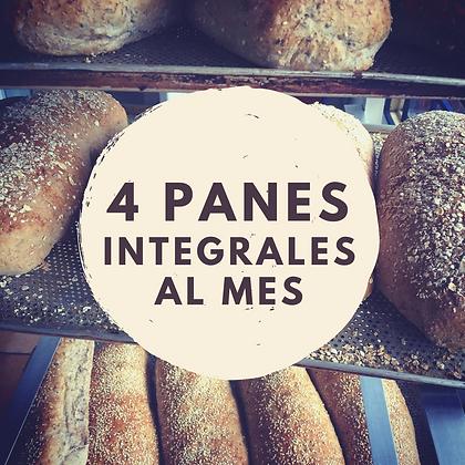4 PANES INTEGRALES AL MES
