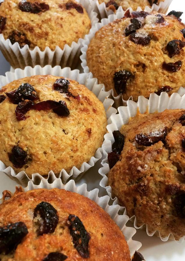 Muffins de Salvado con Arándanos
