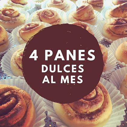 4 PANES ESPECIALES DULCES AL MES