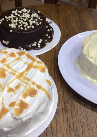 Ponqués de Chocolate, Vainilla y Limón con Amapola