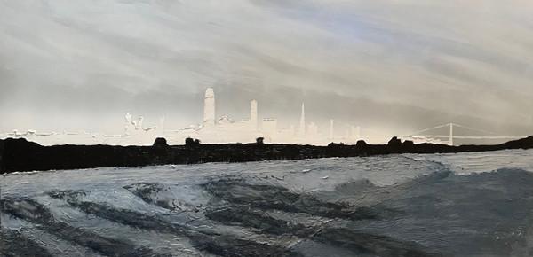 Wake in Alameda Estuary