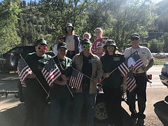 Scenic Canyons employees in 4th of July parade at Red River, NM