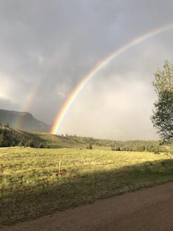 Rainbow at Bristol Head Campground