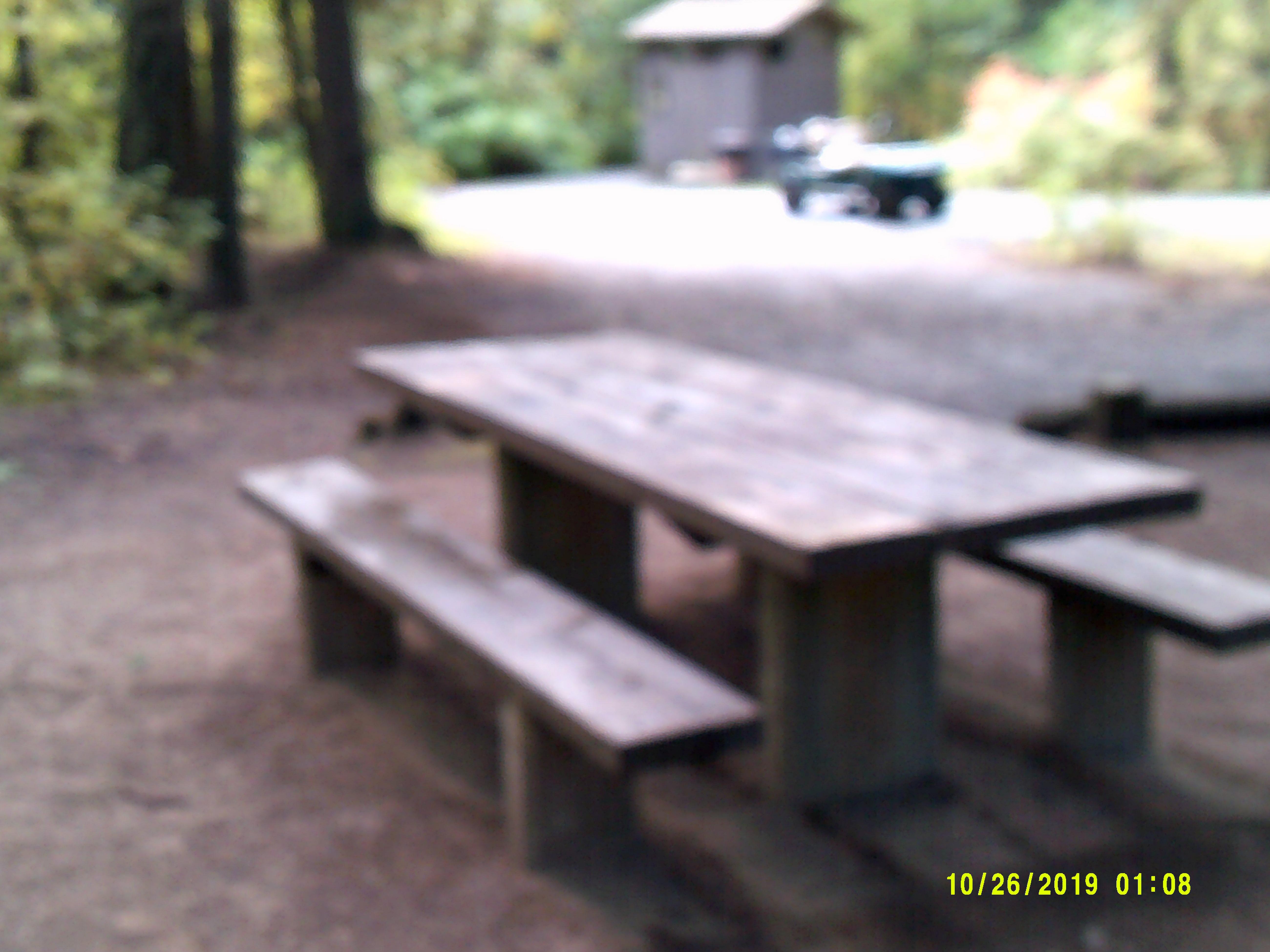 Picnic table at Mokins Bay