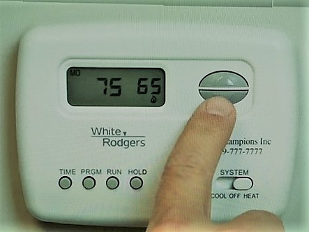White-Rodgers  Non-Programmable Digital Thermostat -Installed-