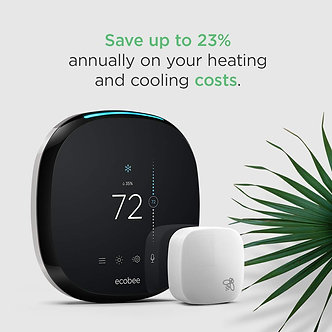 ecobee4 Smart Thermostat with Built-In Alexa, Room Sensor Include, -Installed-