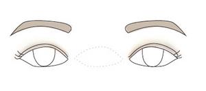 wide set eyes make up and eyebrows shape
