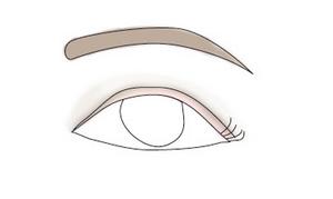 downturned eyes make up and eyebrow shape