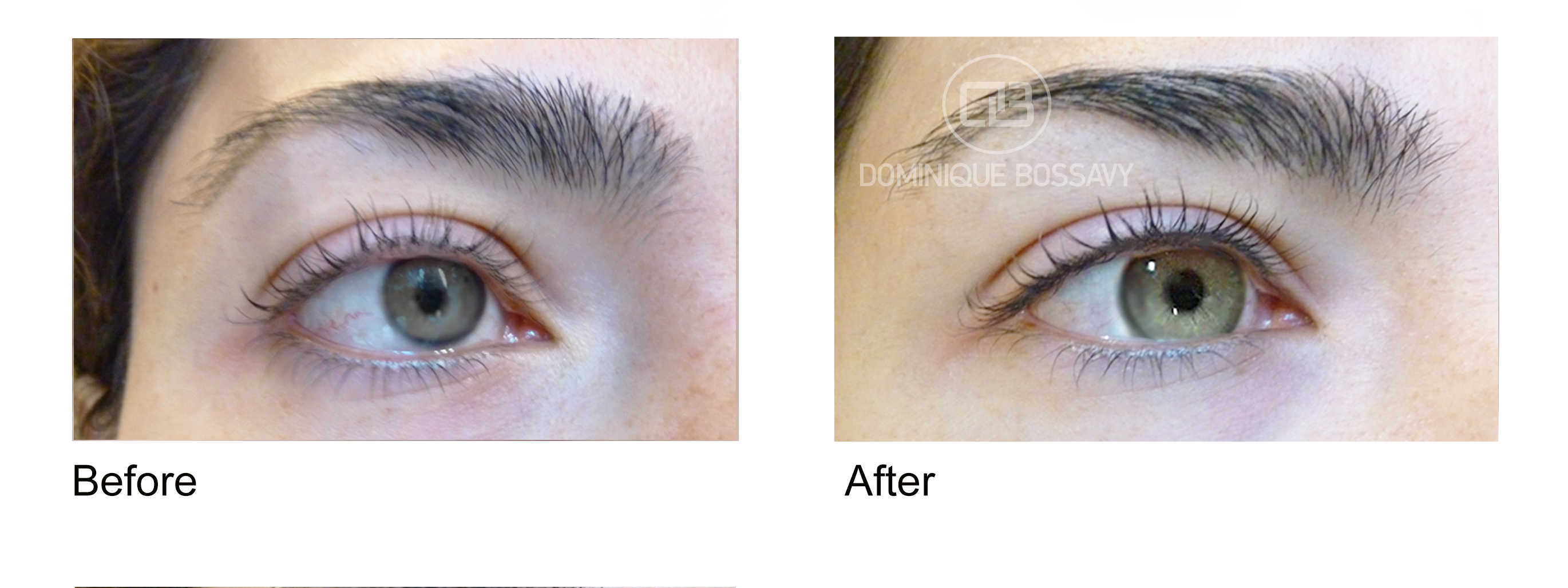 Before And After Eyeliner By Dominique Bossavy Permanent Makeup