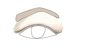 Hooded eyes make up and eyebrow shape