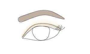 upturned eyes make up and eyebrow shape