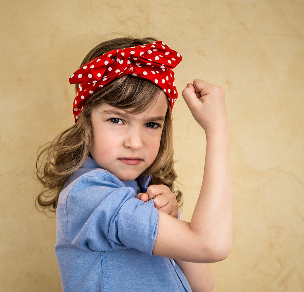We can do it. Symbol of girl power and f