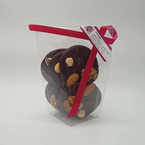 Mendiant au Chocolat Noir Chocolatier Belge Valentino