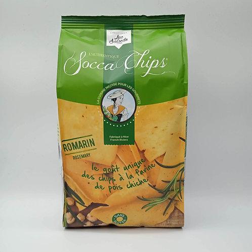 Socca Chips au Pois Chiche et  Romarin Sans Gluten