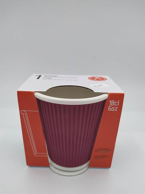 Tasse en porcelaine avec bandeau en silicone ondulé 18cl - Les Artis