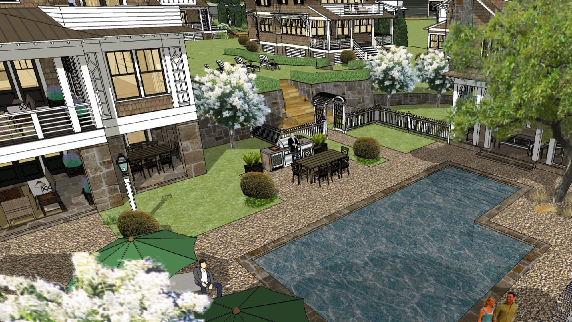 Optional pool and cabana