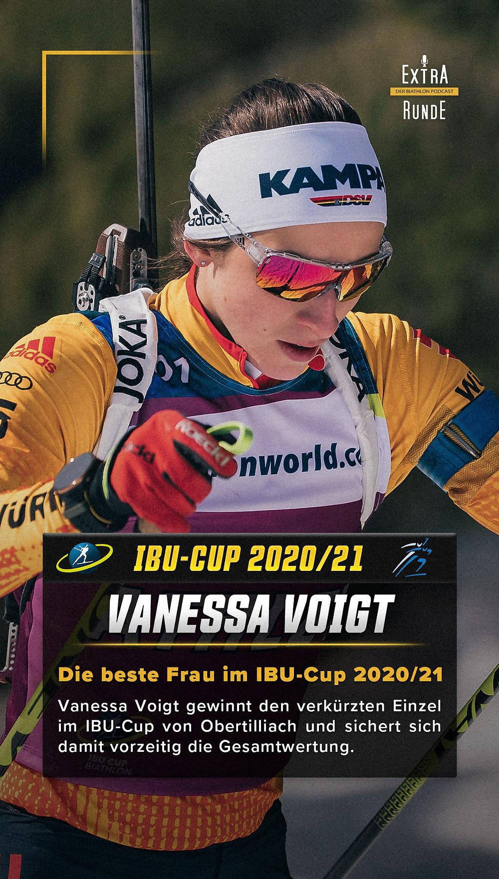 Vanessa Voigt gewinnt die Biathlon Gesamtwertung im IBU Cup
