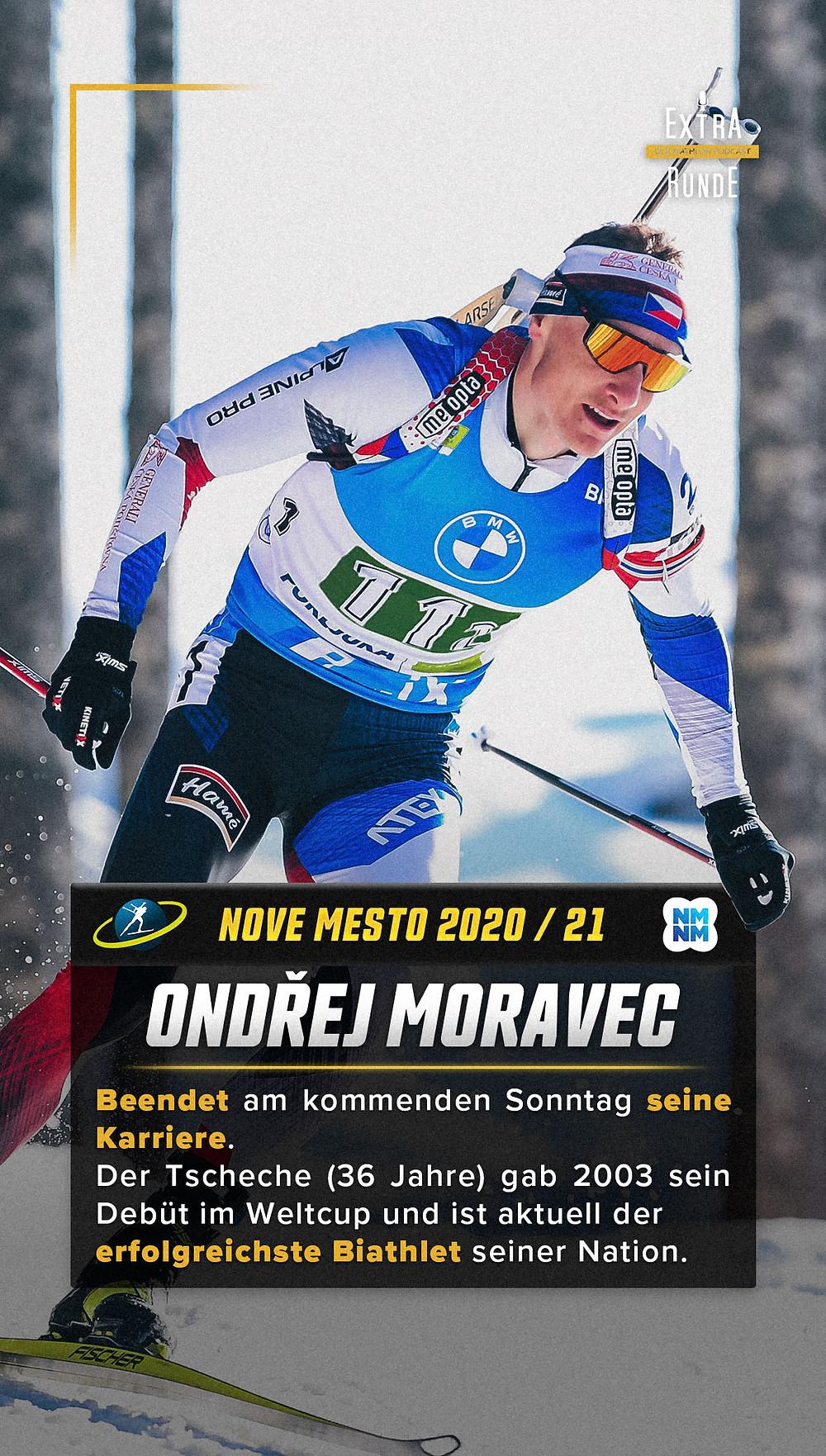 Ondrej Moravec ist aktuell der erfolgreichste Biathlet Tschechiens und beendet seine Biathlon Karriere.