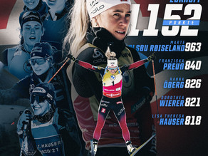 Top-6 Biathletinnen der Weltcupsaison 2020/21