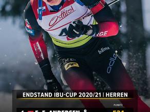 Endstand im Biathlon-IBU-Cup der Herren 2020/21