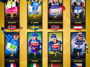 Siegerinnen der aktuellen Biathlon-Saison