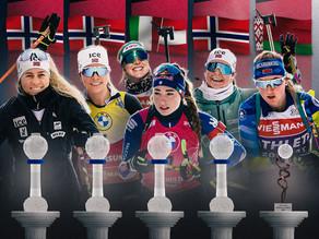 Die Disziplinensiegerinnen der Biathlon Saison 2020/21