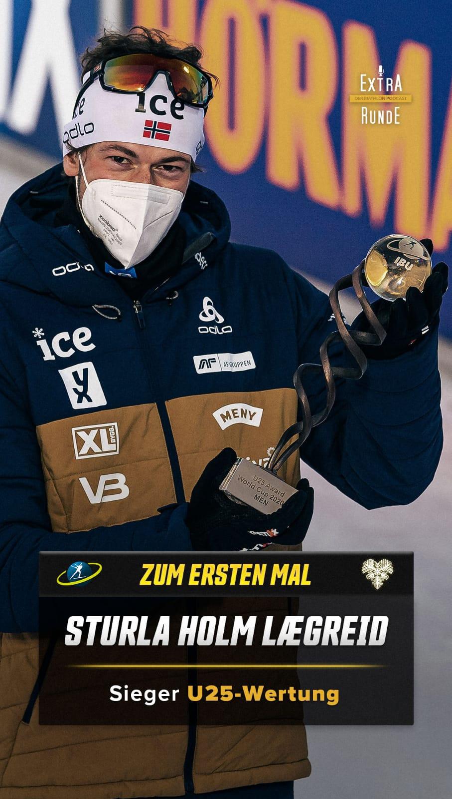 Die Wertung des Besten Biathleten unter 25 Jahren gewinnt der Norweger Sturla Holm Lægreid.