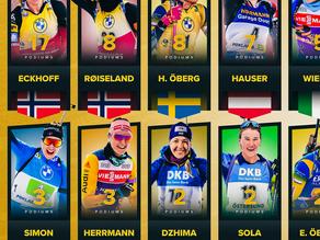 Diese Damen stehen in den Weltcupeinzelrennen im Biathlon 2020/21 auf dem Podest